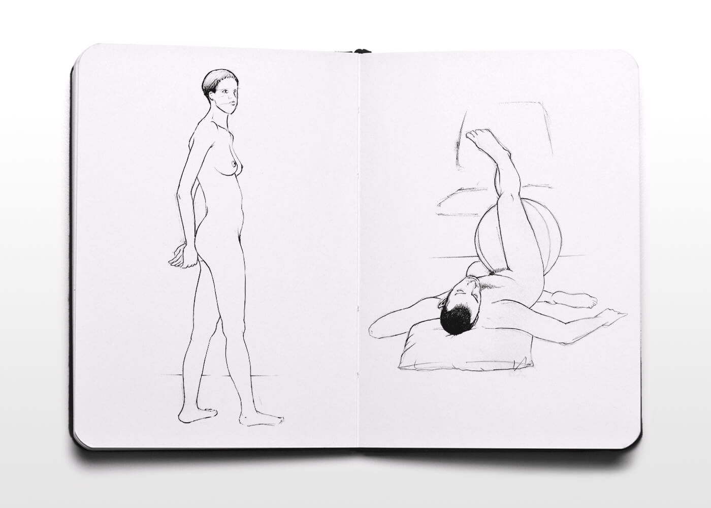 Bocetos De Desnudos - Nude Sketches