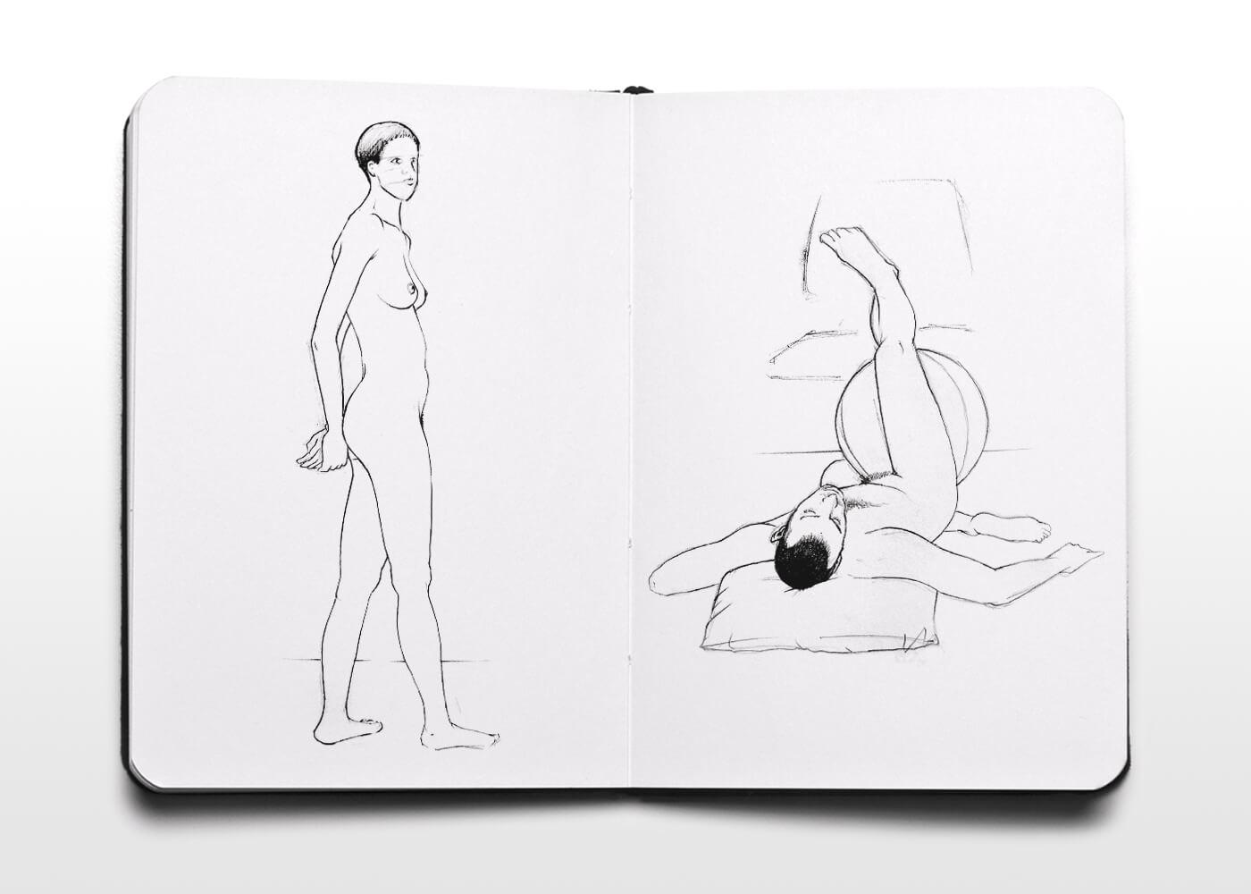 Bocetos De Desnudos