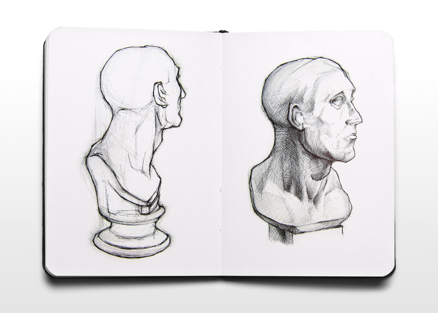 Boceto De Un Busto Escultórico - Sketch Of A Sculptural Head