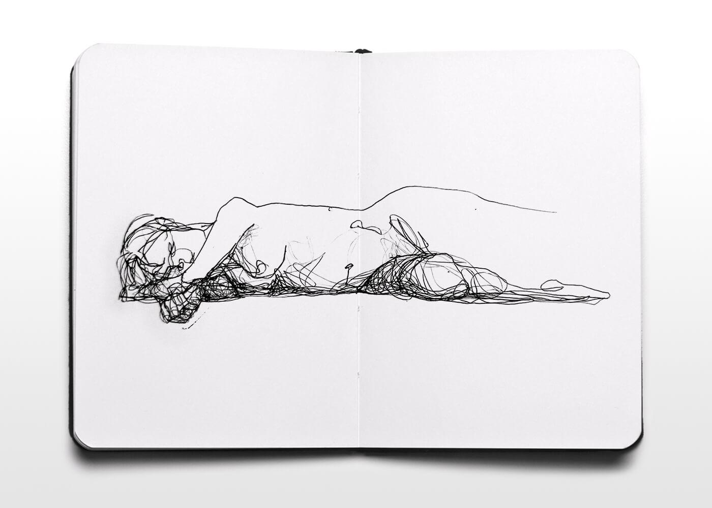 Boceto De Mujer Desnuda 1 - Sketch Of Naked Woman 1