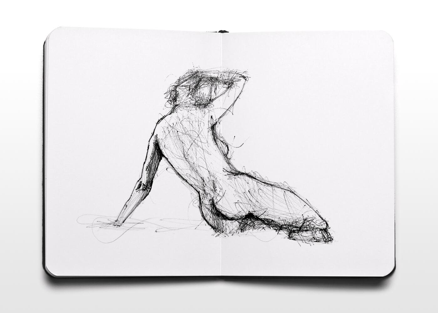 Dibujo De Mujer Desnuda 3 - Nude Woman Drawing 3