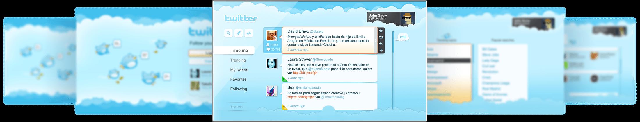 Twitter App for Smart TV - Rigostudios
