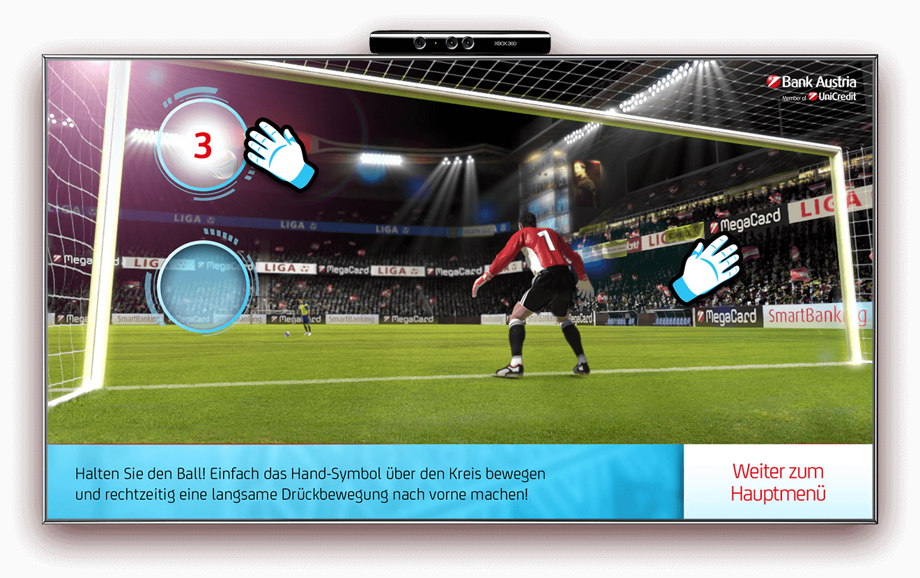 Bank Austria Kinect Goalkeeper football game