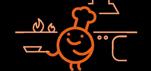 Mascota Edelvives web cocinando