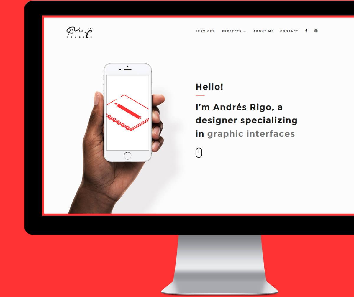 Andres Rigo - Graphic and web designer