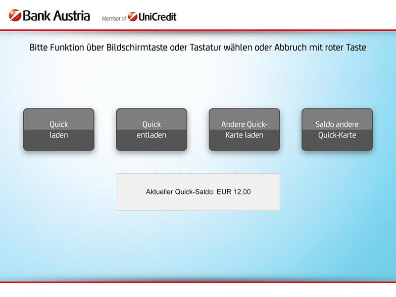 ATM interface select - Interfaz del cajero de selección