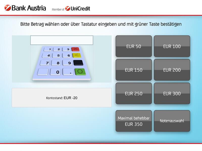 ATM interface quick money - Interfaz del cajero para dinero rápido