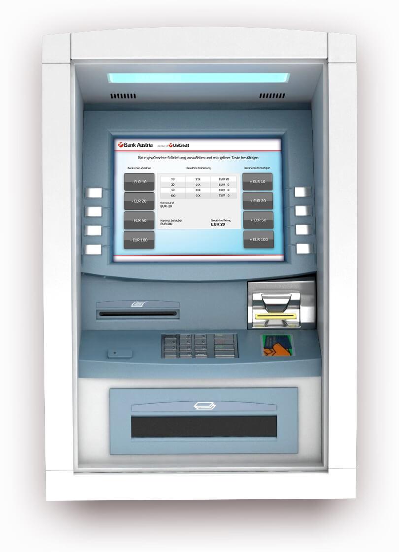 ATM structure & screen - Estructura y pantalla del cajero