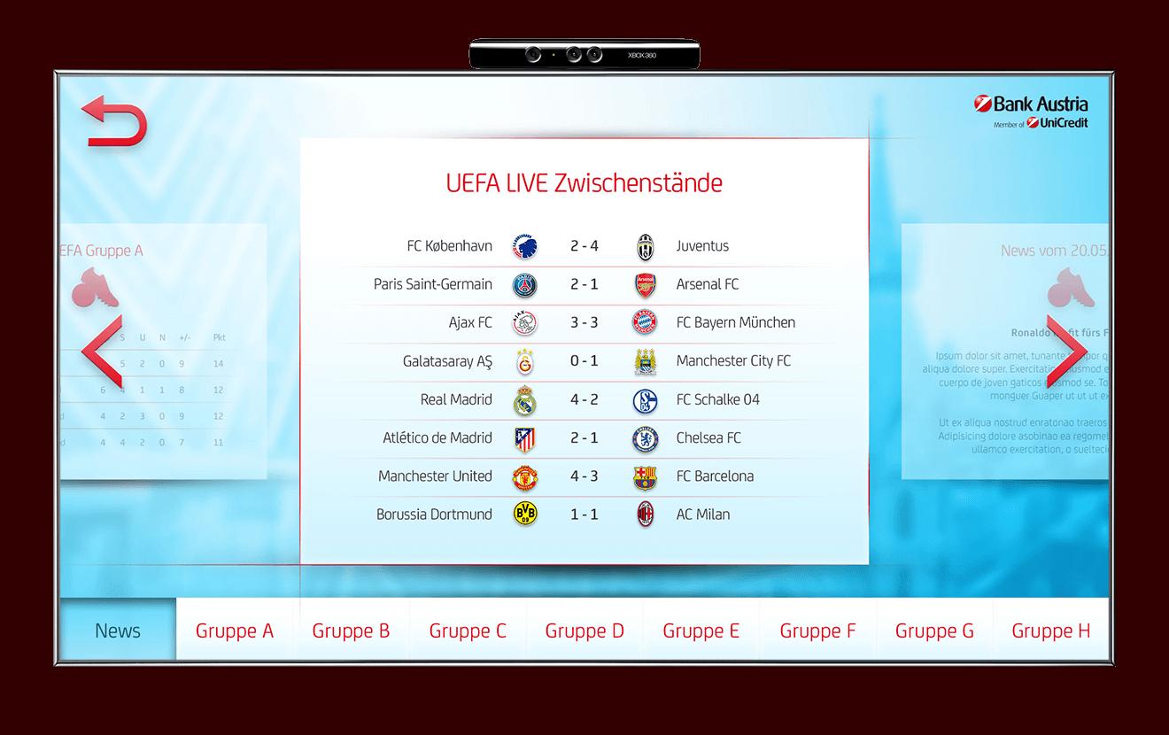 Bank Austria Kinect UEFA Champions Leaque