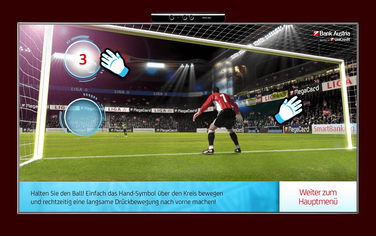 Bank Austria Kinect Goalkeeper football game
